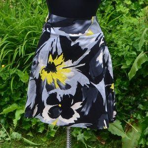 Lane Bryant 22 Floral A-Line Skirt
